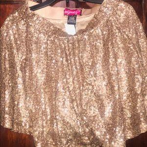New-gold sequins skirt